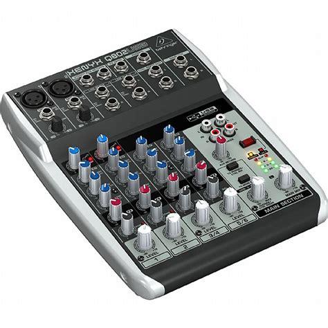 Mixer Behringer Xenyx Q802 Usb behringer q802 usb xenyx premium 8 input 2 mixer