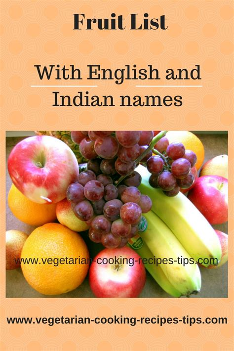 fruit names in fruit list list of fruits with fruit names in