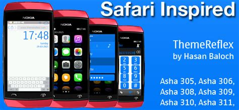 themes for nokia asha 309 mobile safari inspired theme for nokia asha 305 asha 306 asha