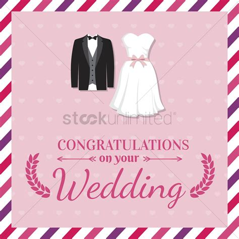 Wedding Wishes Card Design by Wedding Greeting Card Vector Image 1610025 Stockunlimited