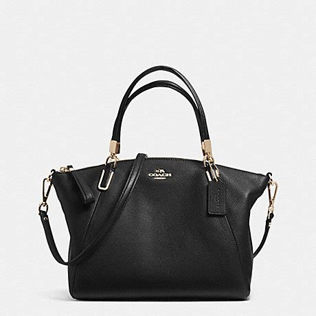 Tas Coach Kelsey Black coach f34493 pebble leather small kelsey satchel light gold black coach new arrivals