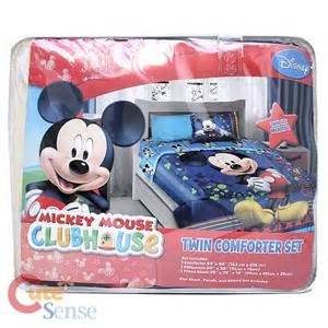 Mickey mouse twin bedding comforter set 3pcs sheet pillow bedding set