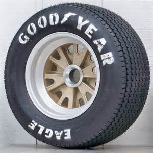 Rod Truck Wheels And Tires Ha02 5 Pin Mag Gold With Goodyear Billboards Vintage