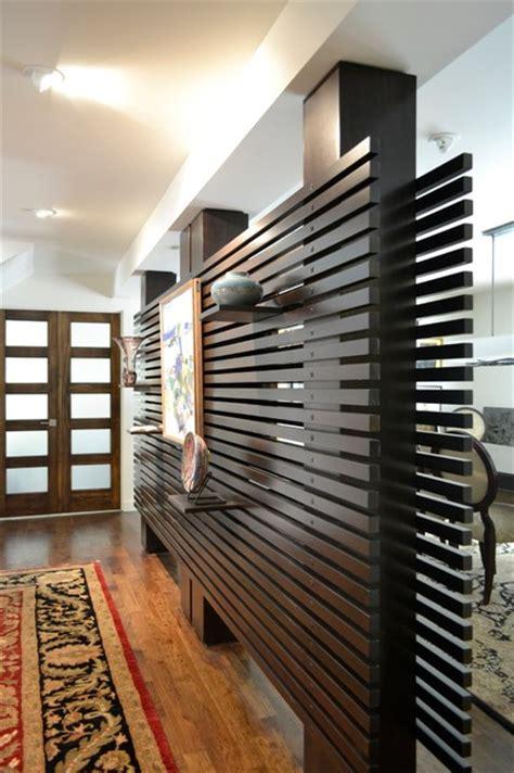 modern wood slat wall slat wall modern dining room hawaii by tola custom