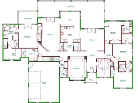 Open One Story House Plans One Story House Plans With Split Level Home Open Floor Plan