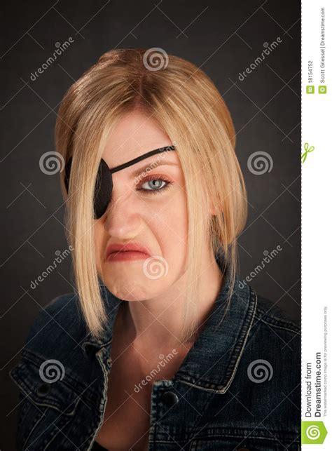 one eyed one eyed stock photo image of eyed feminine