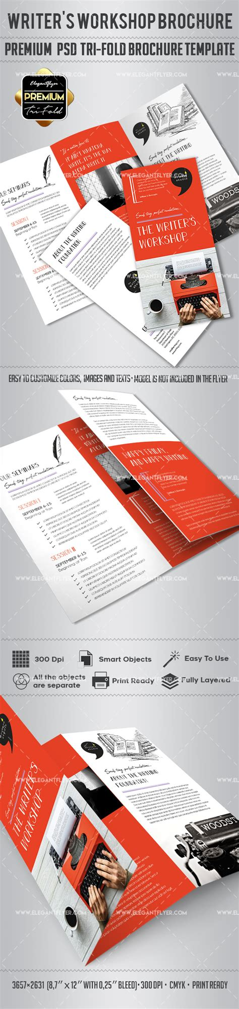 Writer S Workshop Brochure Template By Elegantflyer Workshop Brochure Template