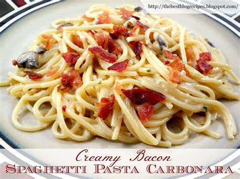 recipes with pasta the best blog recipes creamy bacon spaghetti pasta carbonara