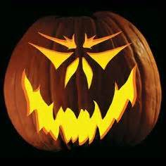For a classic half friendly half scary jack o lantern look more