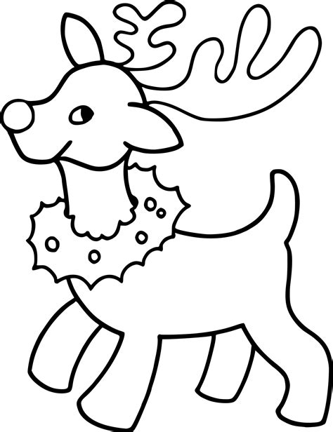 christmas coloring pages for one year olds coloriage renne de noel et dessin 224 imprimer