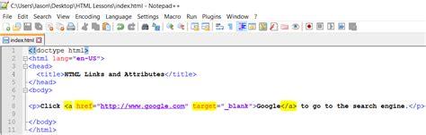tutorial html hyperlink link hyperlink and more tag attributes html web