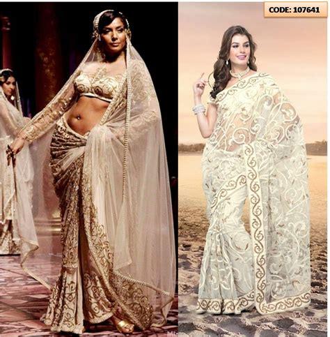 And Gold Sari white and gold wedding saree www pixshark images