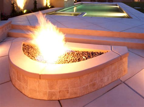 backyard gas fire pit outdoor natural gas fire pits hgtv