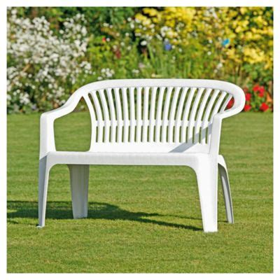 plastic lawn bench buy plastic garden bench white from our garden bench
