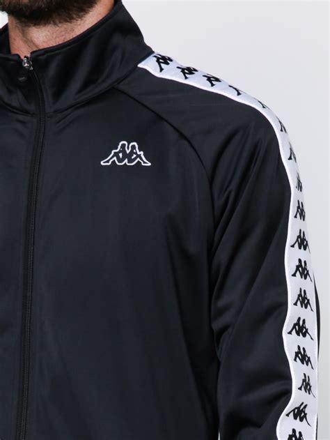 Sale E Buty White Jacket Only kappa 222 banda anniston track jacket in black white