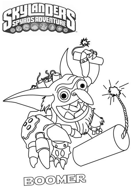 Skylanders Boomer By Tarpius On Deviantart Skylander Coloring Pages To Print