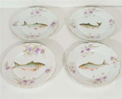 Porcelain Ls Nouveau Ls S Carlsbad Austria Porcelain Fish Set At