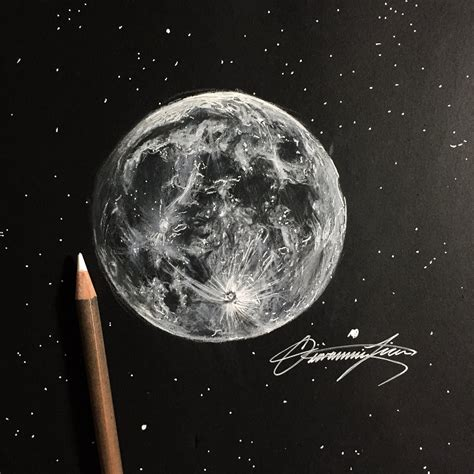 Drawing The Moon by How I Draw The Moon In Less Than One Hour