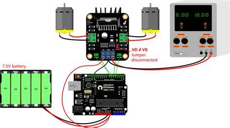 tutorial l298n arduino md1 3 2a dual motor controller sku dri0002 dfrobot