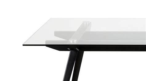 glas gestell esstisch monti tisch glas gestell schwarzes metall 180x90 cm