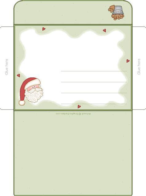 printable christmas envelope templates santa envelope merry little christmas pinterest