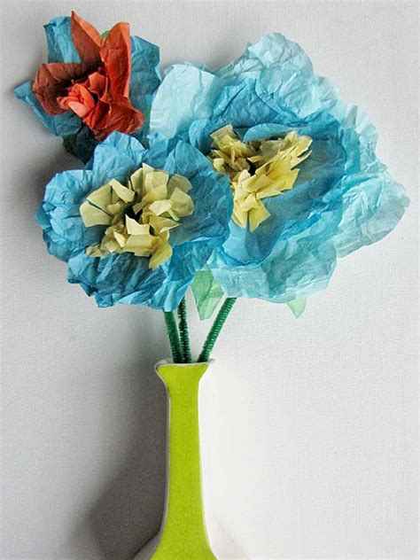 Tissue Paper Flowers With Children - tissue paper crafts guide patterns
