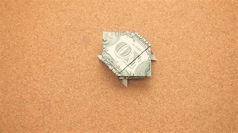 Dollar Bill Origami Turtle - how to make a turtle out of a dollar bill 14 steps