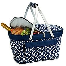 To Market Recap Picnic Basket by Picnic At Ascot Insulated Market Basket Bed Bath Beyond