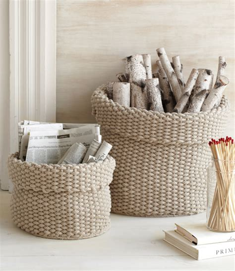 knit home decor decorative ideas for firewood storage places in the home