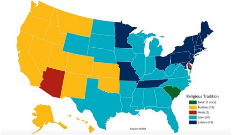 religion by state what are the largest religions in the us