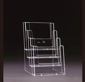 perspex business card holder a5 freestanding leaflet holder 4 tier bay perspex leaflet menu business card holders