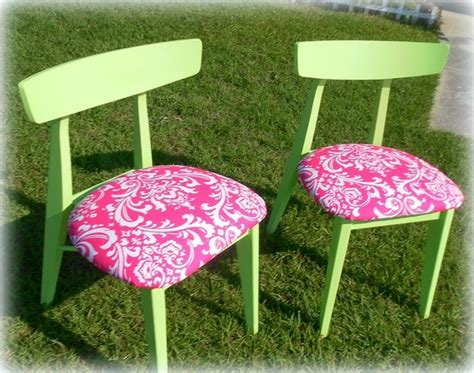 upcycled armchair upcycled mid century modern dining kitchen chairs lime green and pink damask