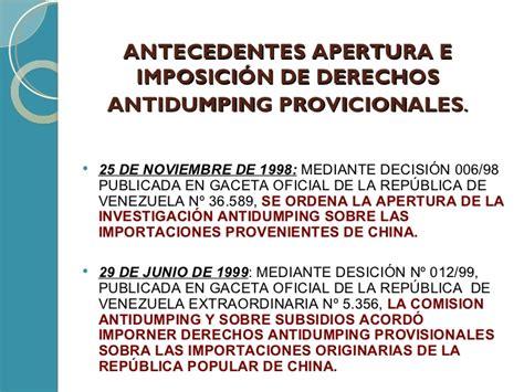 final de la investigacion antidumping sobre las importaciones de contrabando e ilicitos aduaneros