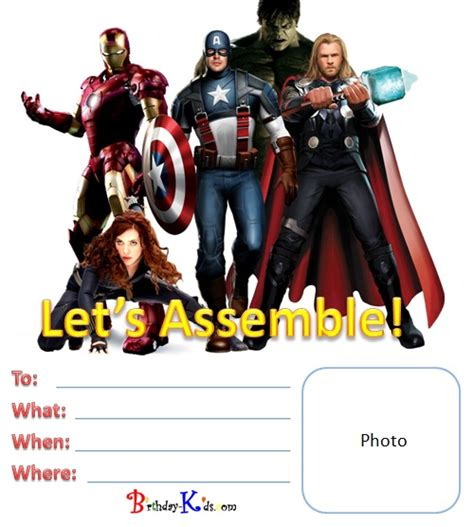 birthday kids printables avengers