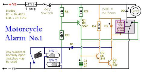 Alarm Anti Maling Untuk Sepeda Motor alarm sepeda motor anti maling kumpulan skema elektronika