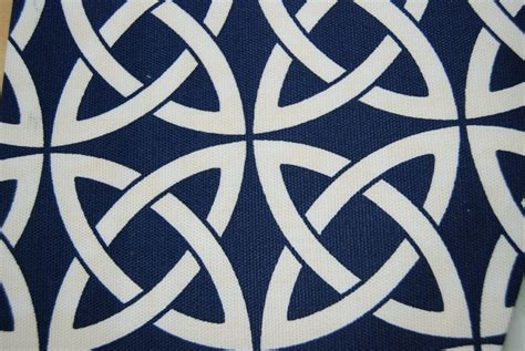 Navy Blue And White Upholstery Fabric by Lattice Link Navy Blue And White Geometric Maker