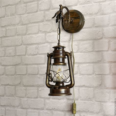 vintage wooden l base antique waterdrops waterproof design light shade wall