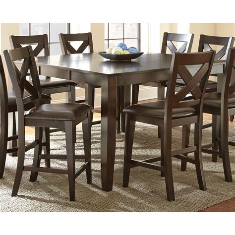 espresso counter height dining table steve silver crosspointe counter height dining table