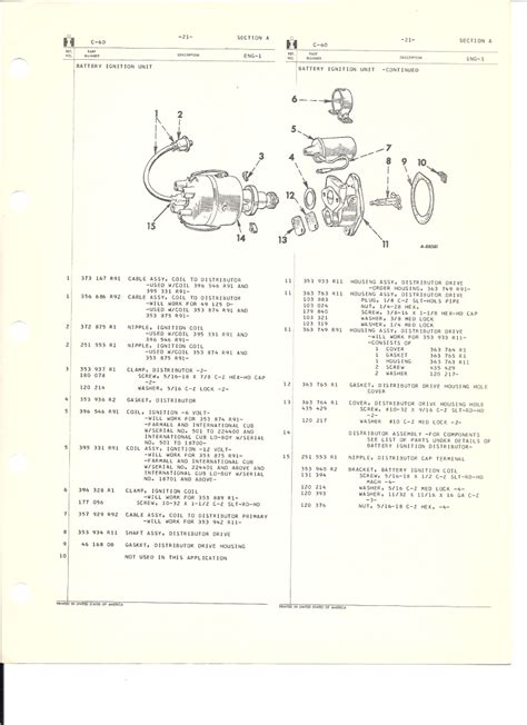 section 20 a eng 1 engine parts catalog section a c 60 engines