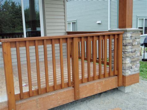 porch banister cedar porch railing designs