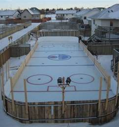 deciding to build an rink