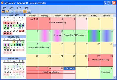 Menstruation Calendar Menstrual Cycle Calendar Template Calendar Template 2016