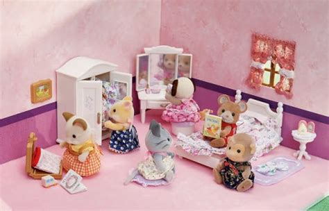 calico critters girls lavender bedroom