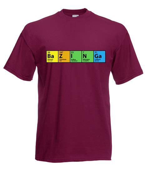 bazinga periodic t shirt the big bang theory inspired sheldon bazinga periodic