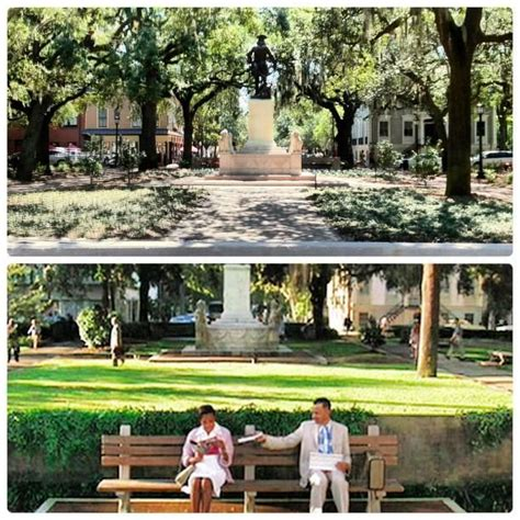 forrest gump park bench scene forrest gump s bench was located here at chippewa square
