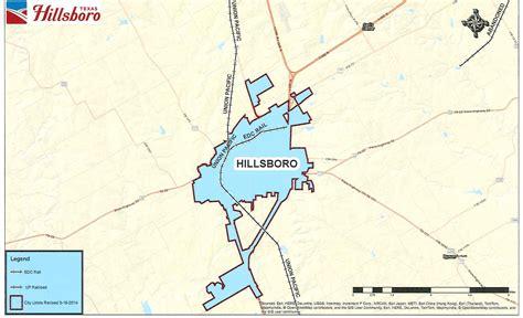 hillsboro texas map hillsboro texas state and local maps