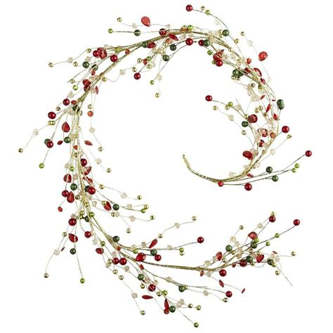 beaded tree garland red green christmas garland