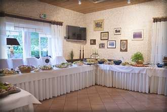 dekorieren eines speisesaals buffet landhaus looft partyservice inkl buffet dekoration