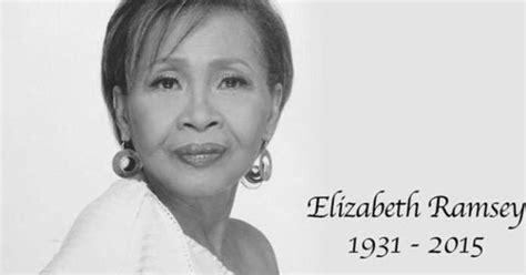 elizabeth died elizabeth ramsey dies in sleep at 83
