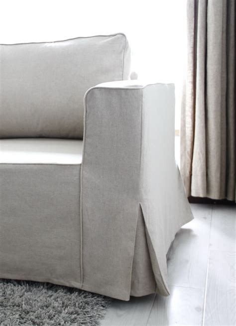 loose couch covers loose fit linen manstad sofa slipcovers now available